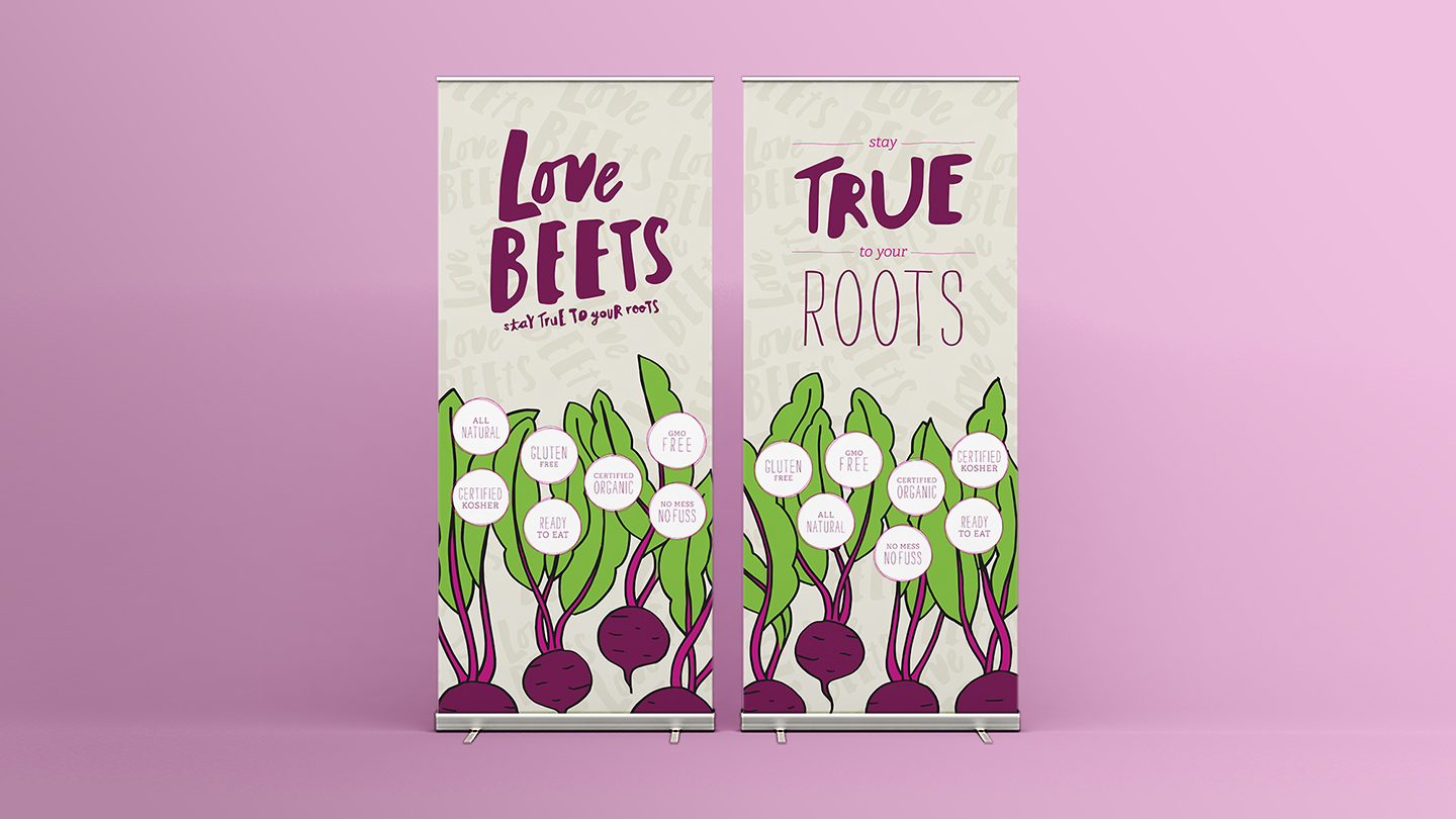 Love Beets Branded Food Marketing Trade Show Banners