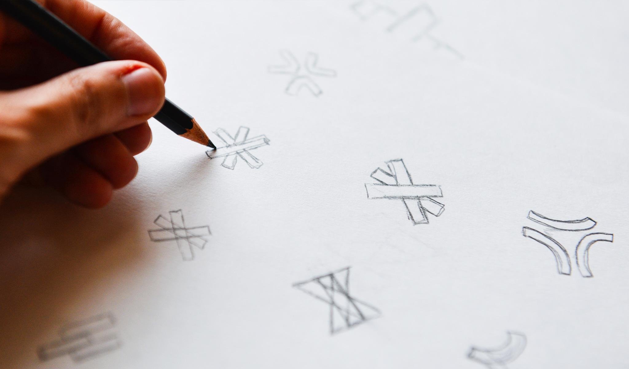 Branding Strategy Logo Sketches