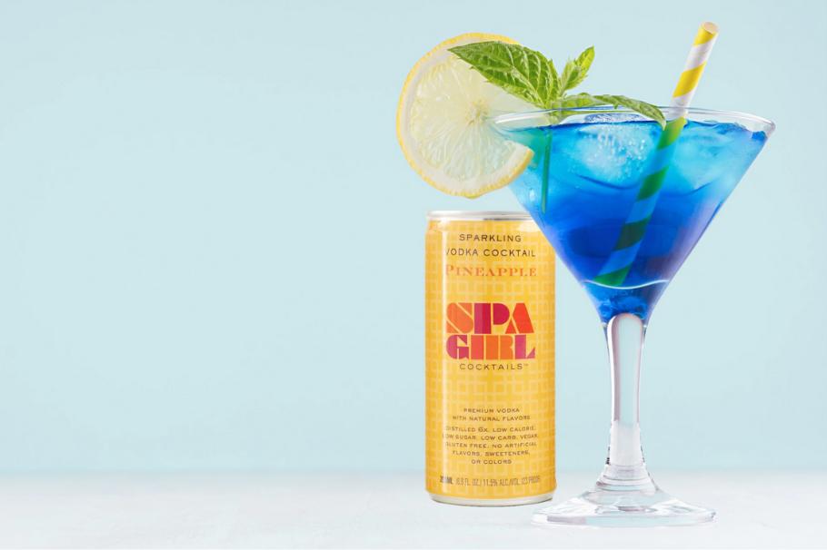 Spa Girl Alcohol Product Branding Image